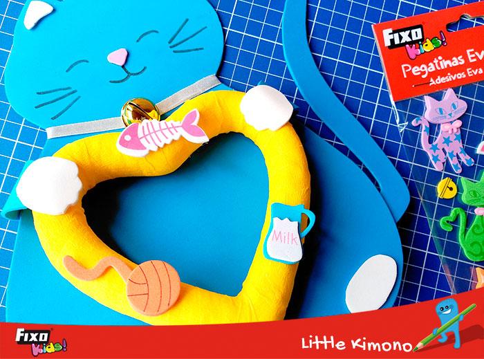 cómo usar pegatinas goma eva en manualidad infantil