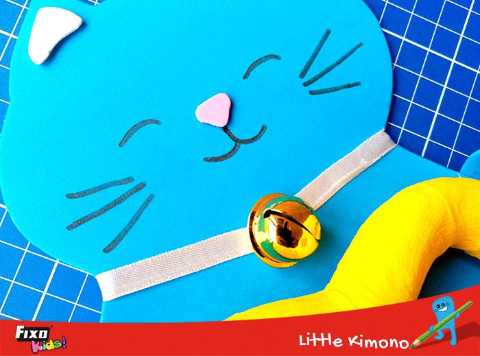 manualidades para niños gato de foamy