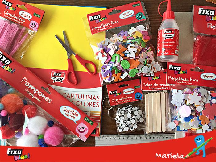 materiales manualidades libro sensorial