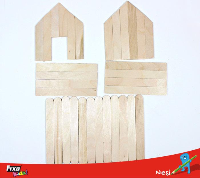 piezas para hacer casita infantil