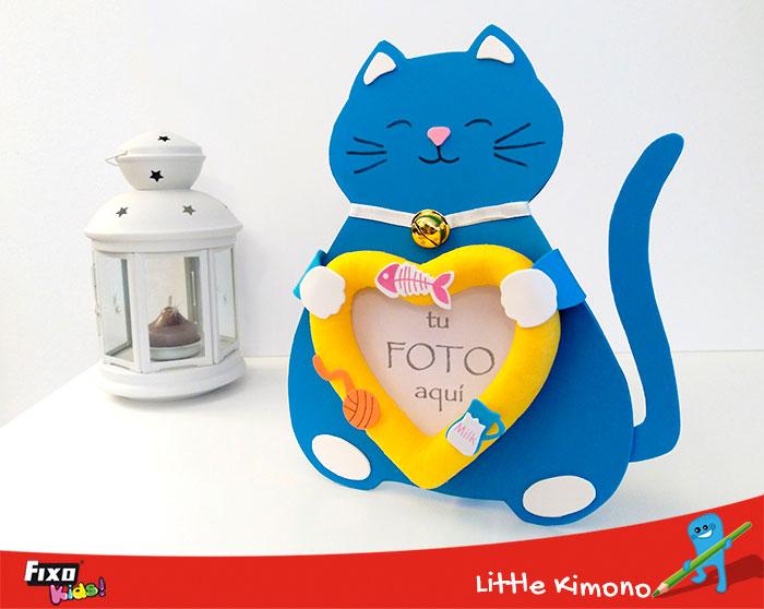 portafotos gato manualidades