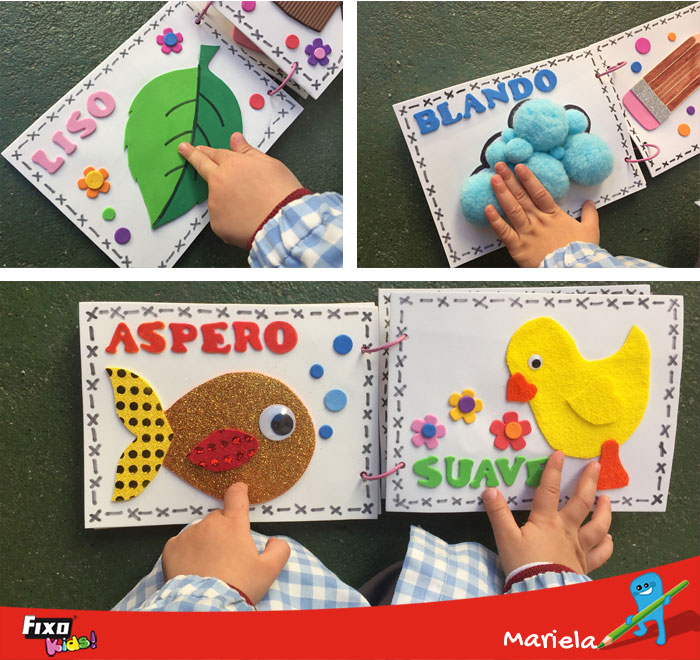 texturas opuestas aprendizaje infantil