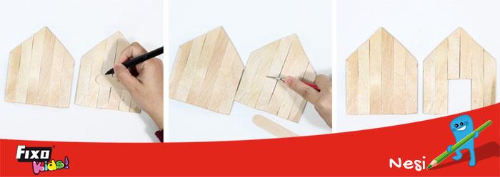 unir piezas casa madera