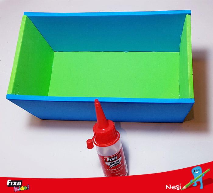 cómo hacer una caja con goma eva fixokids