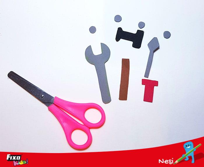 cómo hacer herramientas con foamy