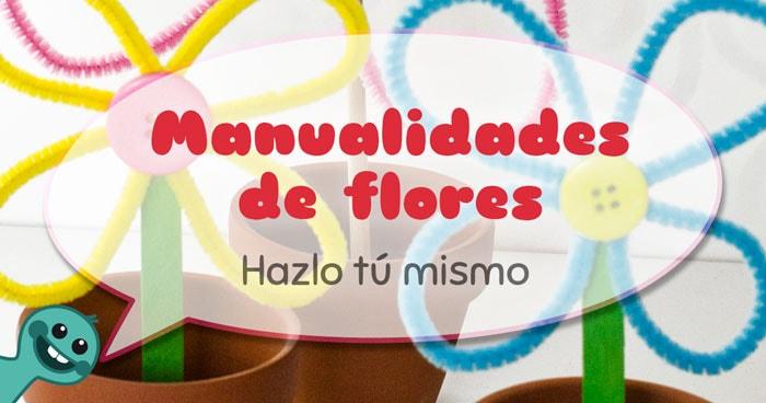 manualidades flores niños