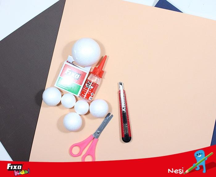 materiales básicos para hacer fofuchas