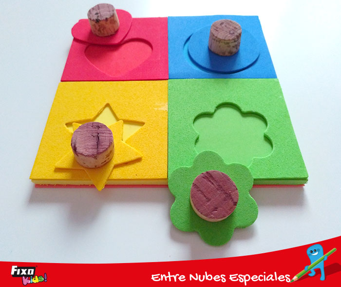 puzzle de goma eva diy