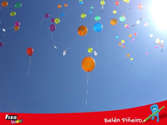 actividad para trabajar el duelo con niños: globos al cielo