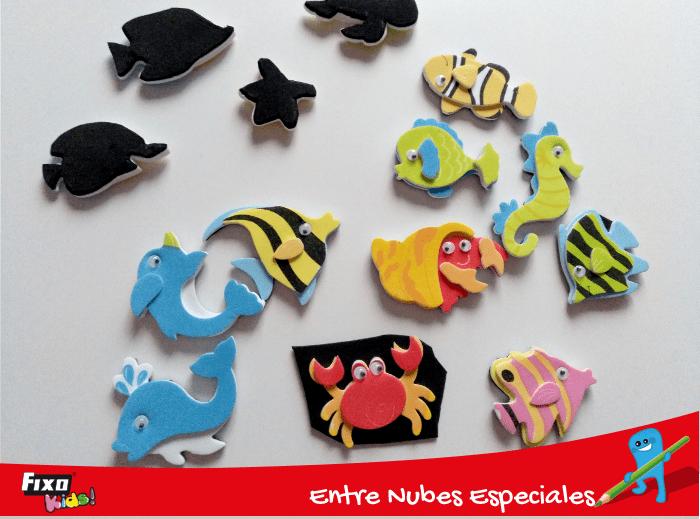animales marinos adhesivos fixo kids