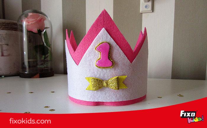 cómo hacer una corona de cumpleaños plantilla