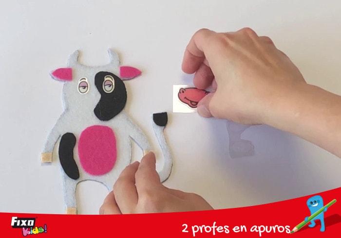 cómo usar pegatinas fixokids para crear marionetas