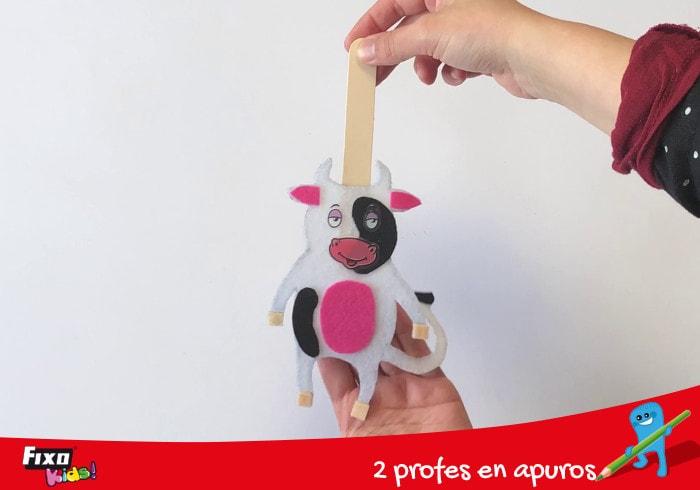 marionetas con palos de helado