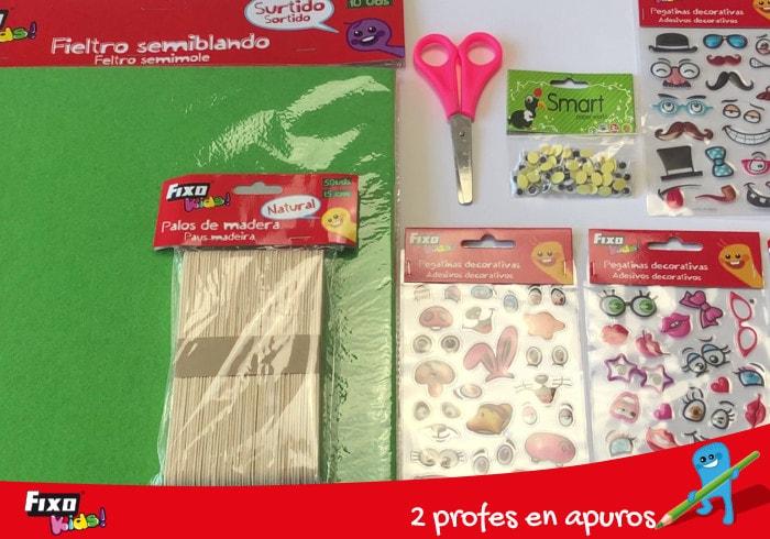 materiales de manualidades para hacer títeres