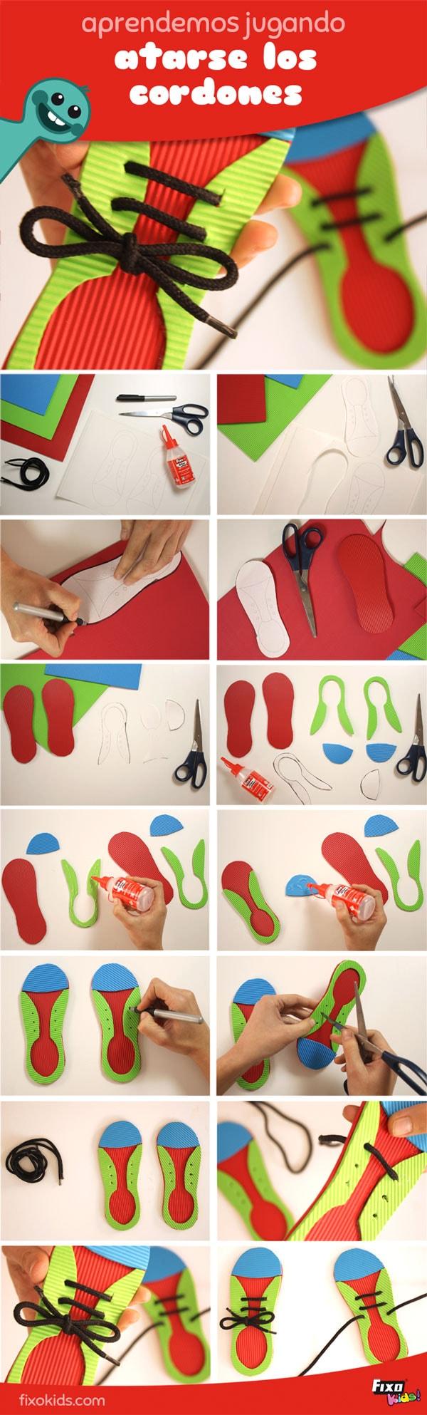 Tutorial para enseñar a niños a atarse los cordones