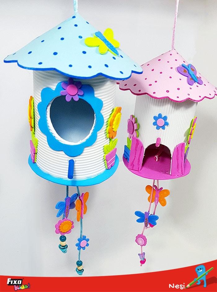 abalorios decorar casa de pájaros