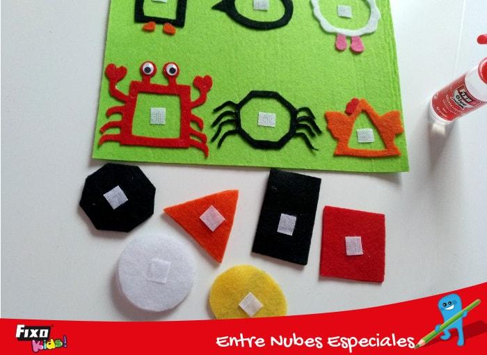 adhesivo textil para juego didactico formas básicas