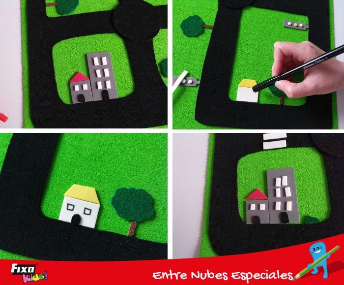 cómo decorar carretera para niños