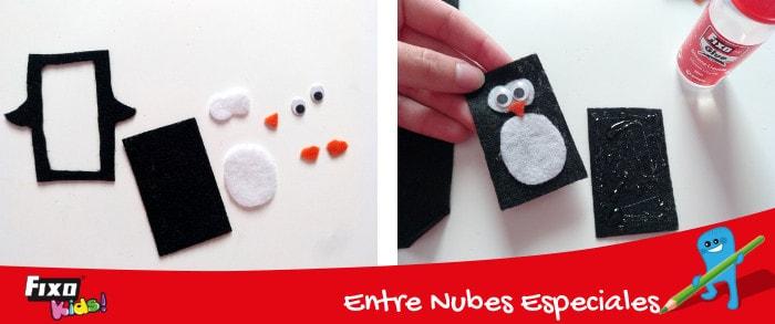 cómo decorar un pingüino de fieltro