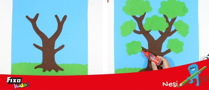 cómo hacer un árbol de fieltro