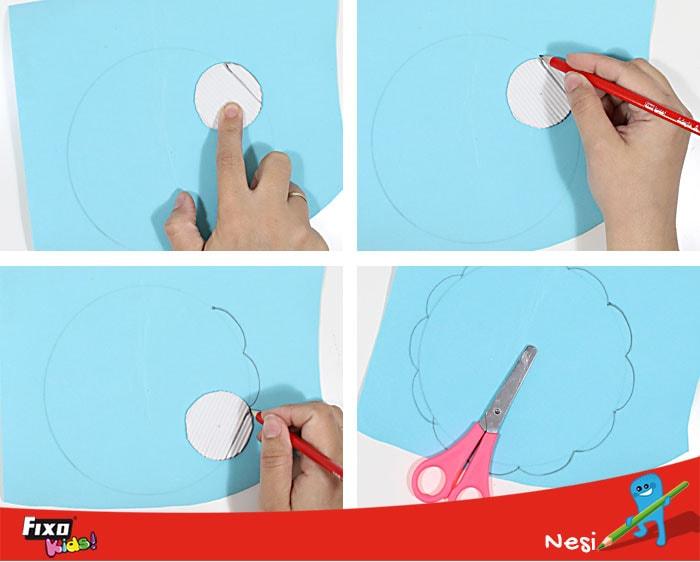 cómo hacer ondas en un círculo fácilmente