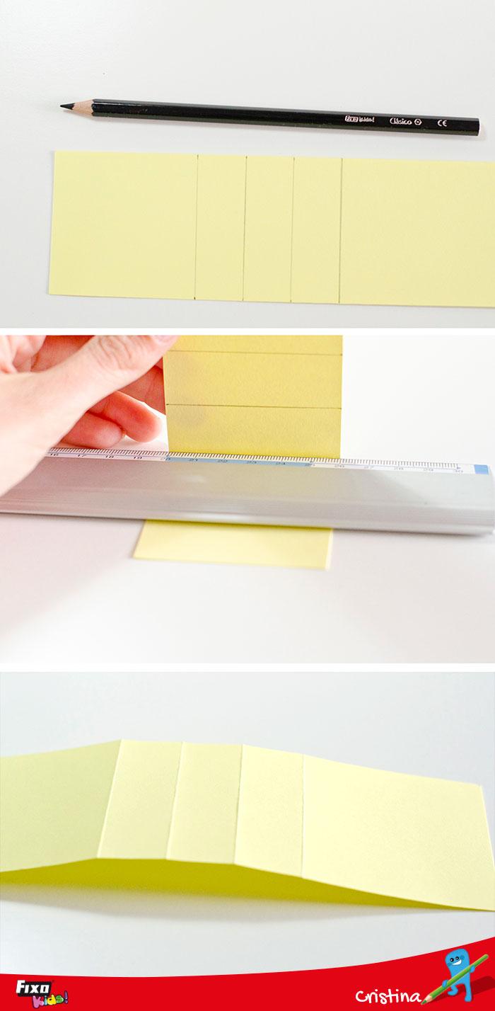 dobleces para hacer cascada en tarjetas