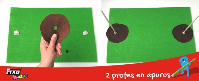fieltro marrón juego para niños de matemáticas