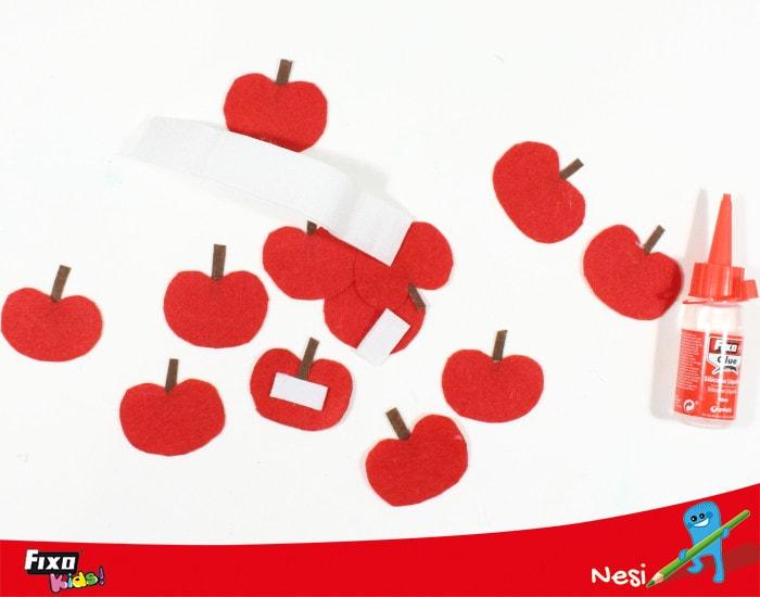 manualidad manzanas de fieltro