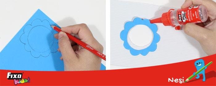 marco circular goma eva