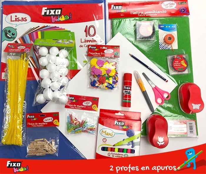 materiales de manualidades para hacer el juego del tendedero