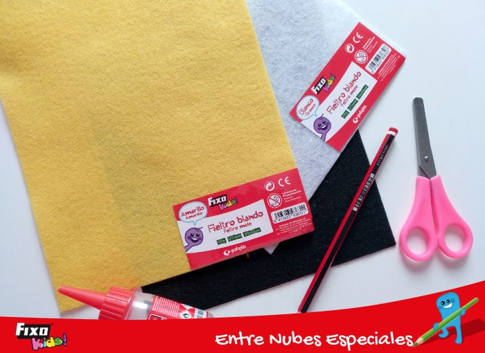 materiales para hacer abeja ovalo