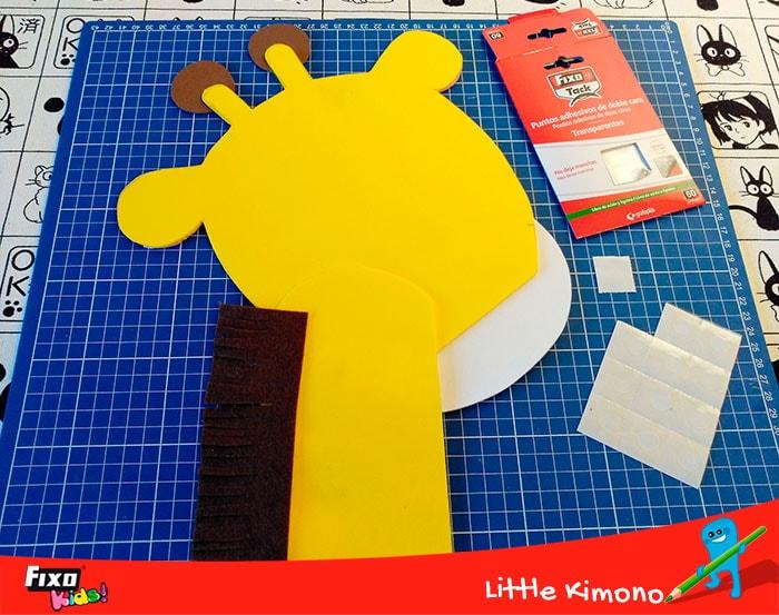 puntos adhesivos transparentes para fijar manualidades infantiles