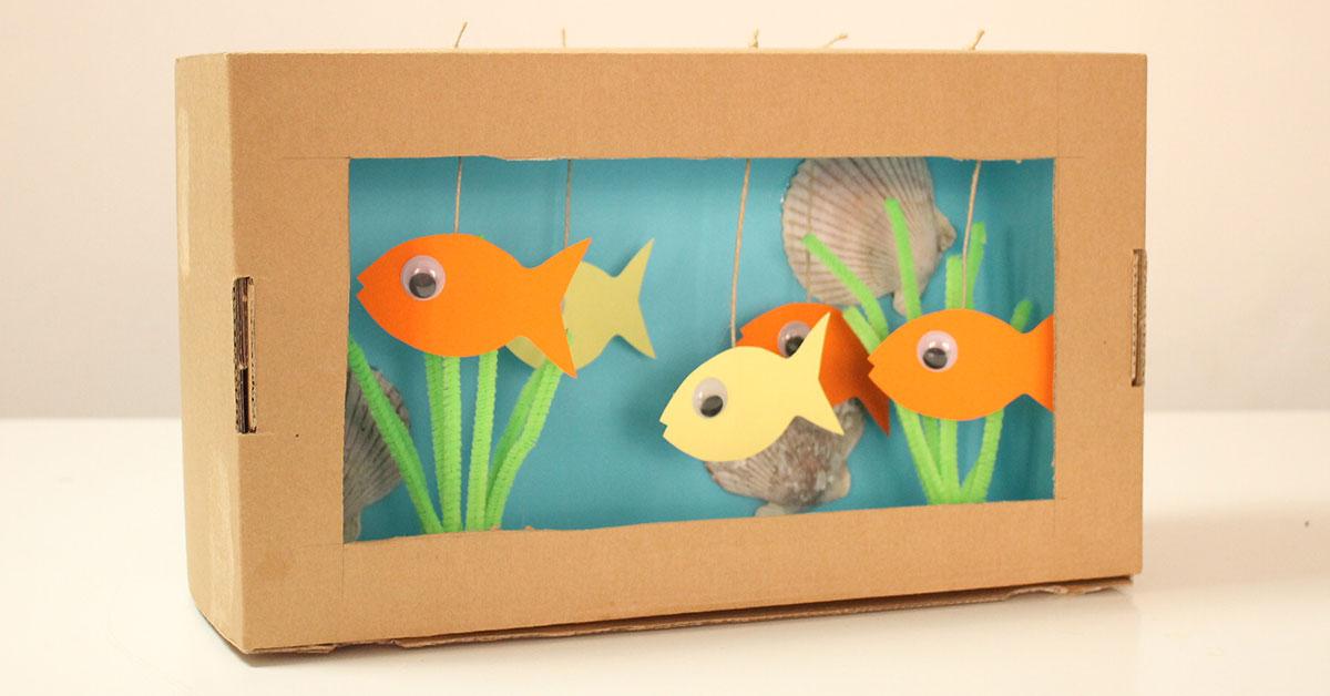 Manualidad Para El Día De Los Océanos Acuario De Cartón Fixo Kids