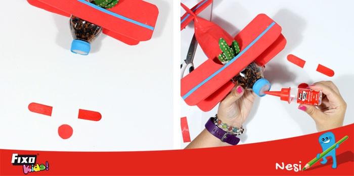 cómo hacer una hélice en un avión para niños