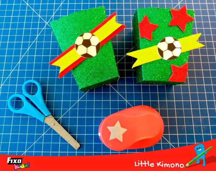 cómo hacer paquete de chuches futboleros