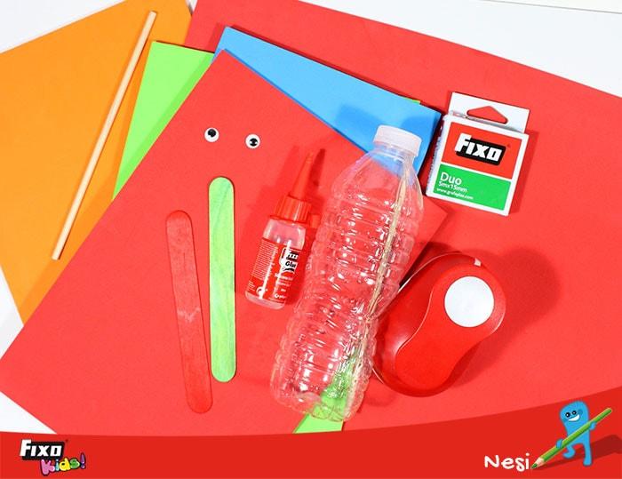 Material de manualidades para reciclaje creativo
