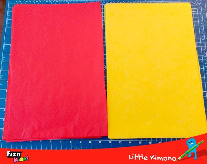 papel de seda para hacer pompones decorativos