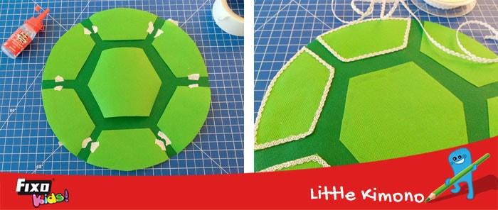 cómo hacer caparazón tortuga