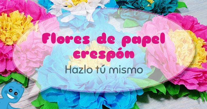 Cómo hacer flores de papel crespón