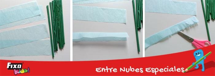 cómo hacer lavanda con papel de seda