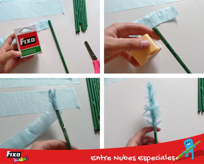 cómo hacer lavanda tiras papel de seda