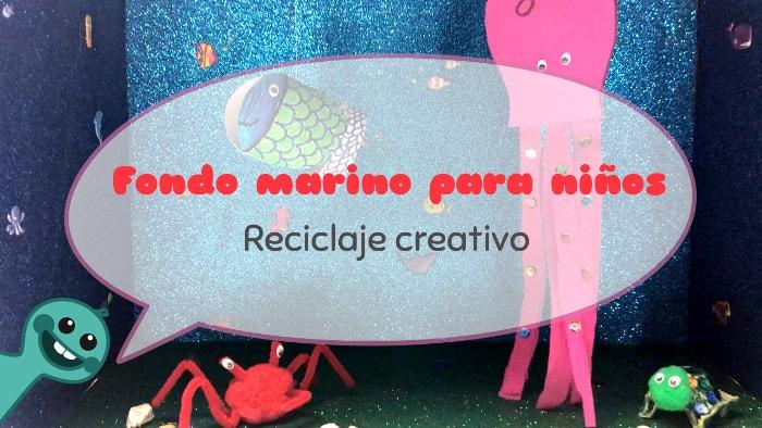 diy fondo marino para niños con vídeo tutorial