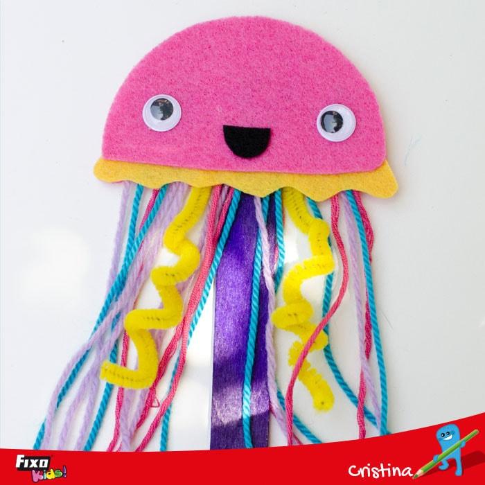 medusa fieltro tutorial manualidades para niños