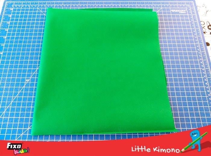 tela no tejido verde oscuro fixo kids
