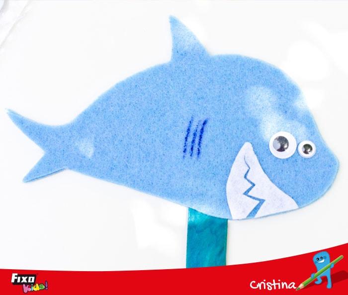 como hacer branquias tiburon fieltro