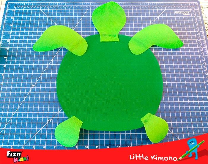 como hacer una tortuga con fieltro y silicona liquida