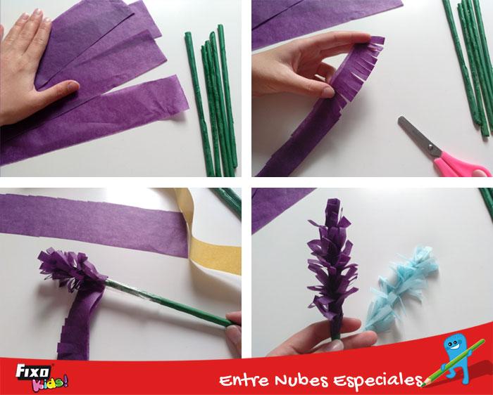 tutorial diy flores papeles