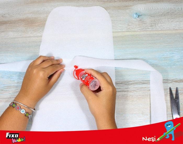 DIY delantal tela no tejido