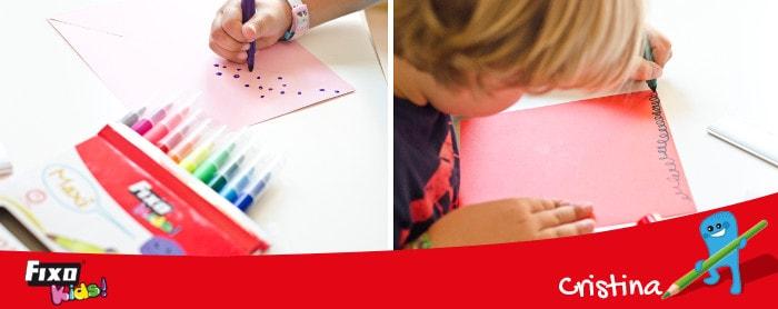 cómo decorar un molino de papel con rotuladores fixo kids