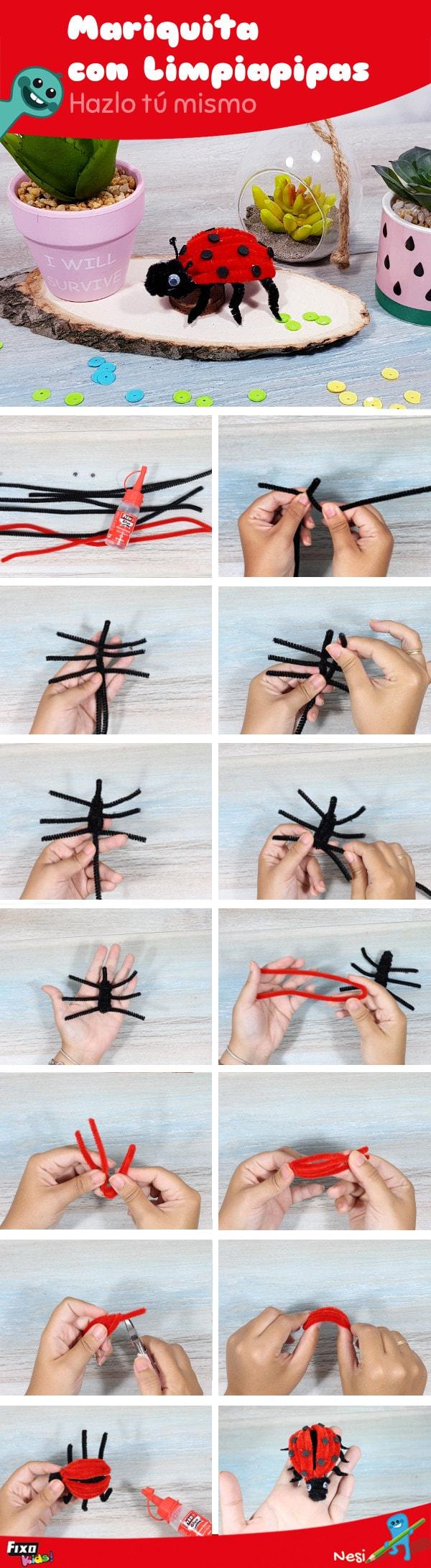 manualidad infantil cómo hacer un animal con limpiapipas